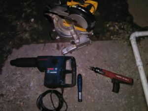 Dwalt saw and Hilti ramset and Bosch concrete drill for Sale in Washington, DC