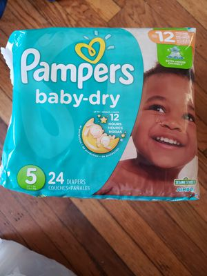 3 PACKAGES DIAPERS PAMPERS BABY DRY SIZE 5 for Sale in Hyattsville, MD