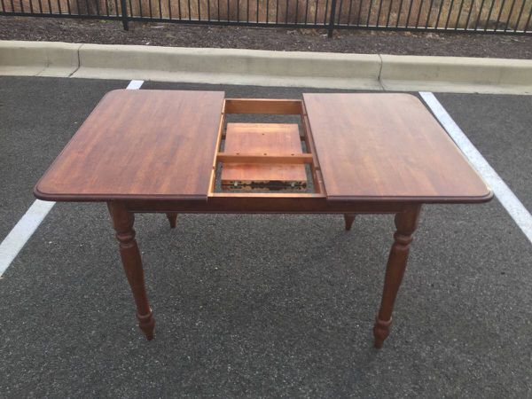 Wood Dining Table With Expandable Leaf - Will Deliver