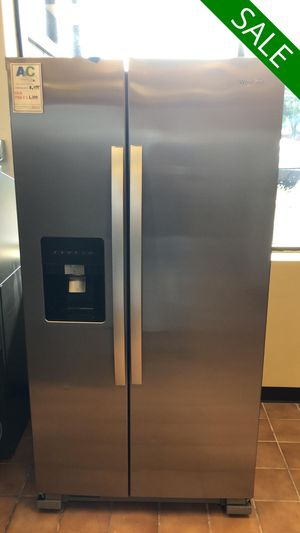 FREE DELIVERY!! Whirlpool CONTACT TODAY! Refrigerator Fridge Stainless Steel #1483 for Sale in Fort Washington, MD