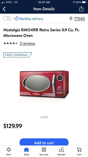 NOSTALGIA (NEW) microwave Candy Red for Sale in Houston, TX