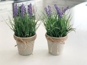(2) Artificial lavender plants for Sale in Auburn, WA