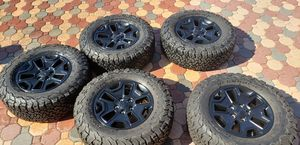 OEM Jeep wheels and tires backcountry edition for Sale in Clearwater, FL
