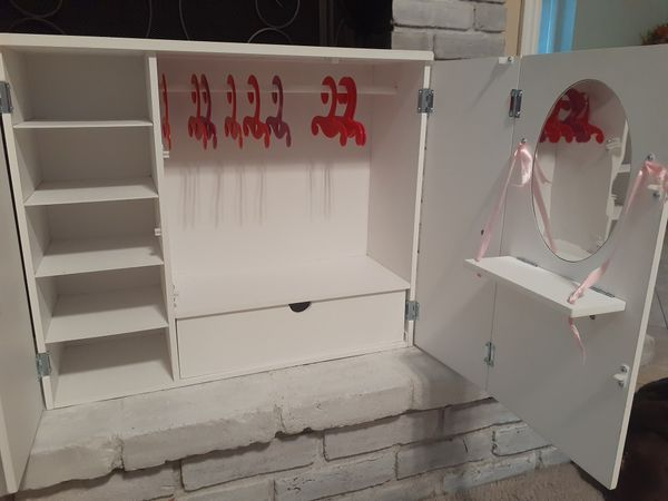 Doll closet, great for American girl dolls too