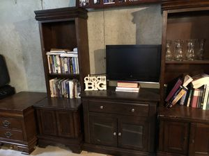 Entertainment center and bookshelves for Sale in Derry, NH