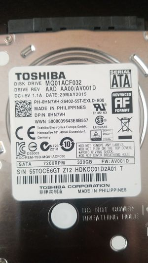 Toshiba laptop HDD 320 gb - MQ01ACF032 for Sale in Inglewood, CA