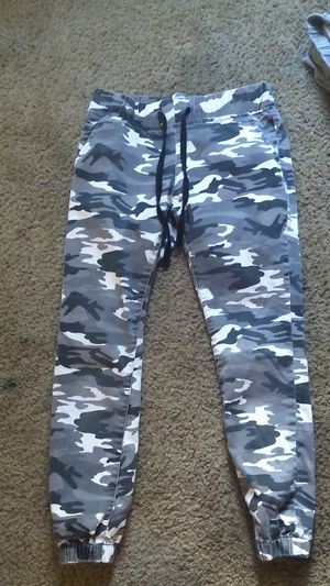 Grey, white & black camo sweats/ pants/ legging type for Sale in Portland, OR