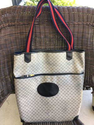 VINTAGE GUCCI GG LARGE NAVY TOTE EXCELLENT COND REFURBISHED PROFESSIONALLY for Sale in Palmetto, FL