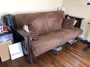 Wood frame futon couch for Sale in Denver, CO