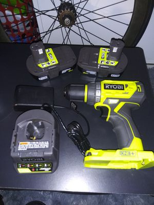 RYOBI 18-Volt ONE+ Lithium-Ion Cordless Brushless 1/2 in. Drill/driver with (2) 2.0 Ah Batteries, Charger, for Sale in Garden Grove, CA