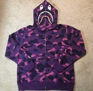 Bape shark hoodie purple camo for Sale in New York, NY