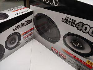 Car speakers : ( total 2 pairs ) Kenwood 1 pair 6.5 inch 2 way 300 watts & 1 pair 6×9 3 way 400 watts car speakers new for Sale in Bell Gardens, CA