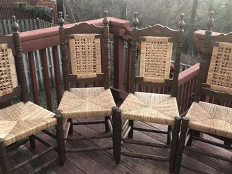 Antique Wicker Gothic Cathedral Chairs for Sale in Leesburg,  VA