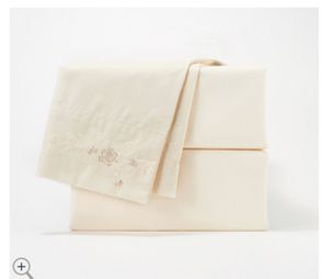 Casa Zeta-Jones 400TC Cotton Vintage Rose Embroidered Sheet Set for Sale in Pompano Beach, FL