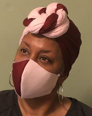 Headwrap with matching mask...variety of colors available: navy, red, light pink, fuchsia, yellow, green, royal blue, black, purple and white for Sale in Kittrell, NC