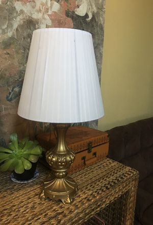Table Side Lamp with Good Quality Brass , includes Shade and Energy Saver Bulb for Sale in Chino Hills, CA