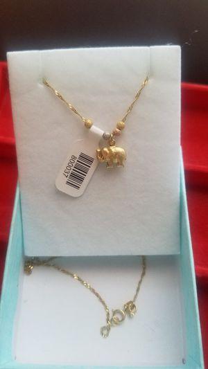 pretty Italian 14k gold chain say elephant ( Oro 100% real Garantizado) for Sale in Manassas Park, VA
