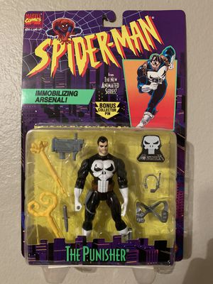 Marvel Spider-Man Animated Series (1995) The Punisher Toy Biz Figure NIP for Sale in Stockton, CA