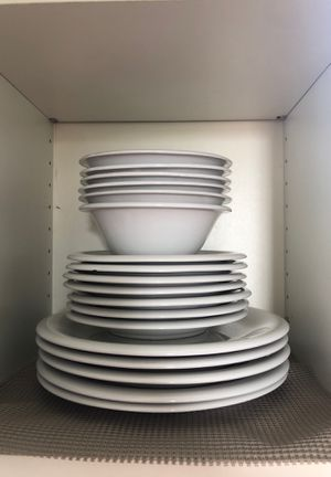 Porcelain White Plates & Bowls for Sale in Miami, FL