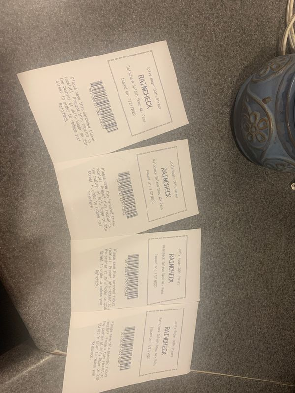 4 tickets to Jolly Roger water park