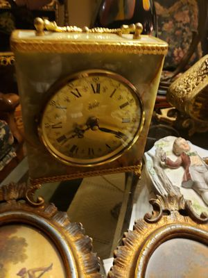 Antique marble clock for Sale in Delray Beach, FL