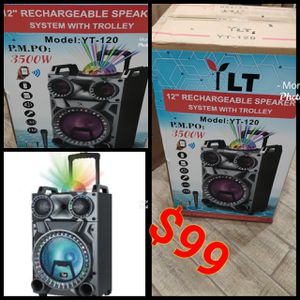 YLT 12 RECHARGEABLE SPEAKER WITH TROLLEY NEW for Sale in Anaheim, CA