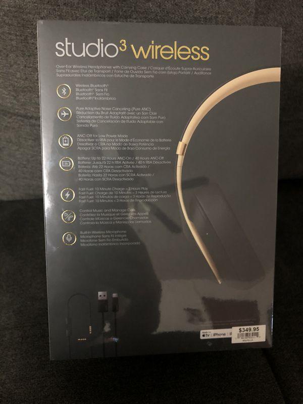 BRAND NEW- Beats Studio3 WIRELESS in shadow gray