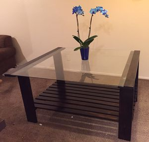 Handmade Wood and Glass Dining Table for Sale in Phoenix, AZ