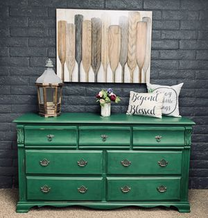Farmhouse rustic dresser-media console-entry table for Sale in Peoria, AZ