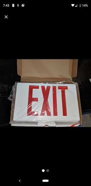 LED business exit sign for Sale in Montgomery, AL