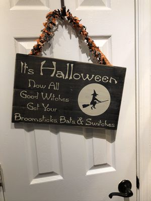 Halloween Witch Sign for Sale in Suffolk, VA