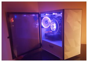 White Minimalistic Custom Gaming PC with Cyberpunk 2077 Aesthetics for Sale in Sanford, ME