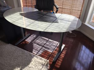 IKEA desk with mat for Sale in Bristow, VA