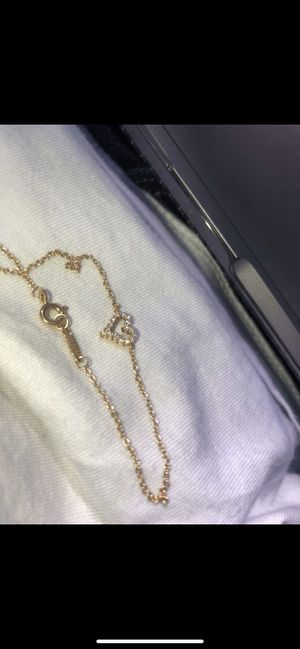 18k rose gold with round brilliant diamonds heart bracelet, Tiffany & Co for Sale in San Diego, CA