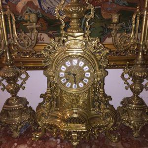 Antique Italian clock and candelabra set for Sale in Laguna Beach, CA