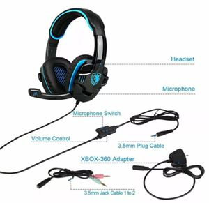 SADES PS4 Gaming Headset Xbox One PC Headphone 3.5mm Earphone Stereo Sound w Mic for Sale in Boca Raton, FL