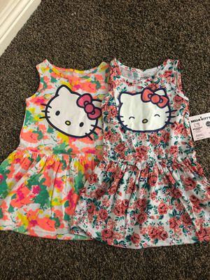 2 pcs Hello kitty dresses size 24 months for Sale in Bellflower, CA