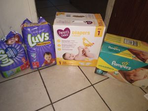 Size 1 diapers for Sale in Tucson, AZ