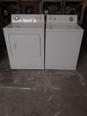 Washer and dryer electric Roper good condition 90 days warranty labadora y secadora electrica Roper buenas condiciones 90 dias de garantia for Sale in San Leandro, CA