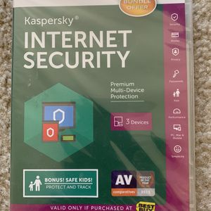 Kapersky - Internet Security - (New) (Unopened) For - (3) - Devices for Sale in San Rafael, CA