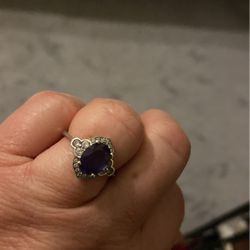 Alexandrite with Cubic Zirconia Made in sterling silver for Sale in Tyngsborough,  MA
