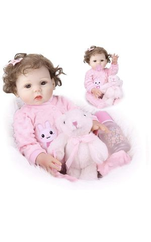 Reborn Baby Dolls, Realistic Baby Girl Doll, 16inch Reborn Baby Doll That Look Real Silicone Full Body Lifelike Reborn Doll for Age 3+ for Sale in Lilburn, GA