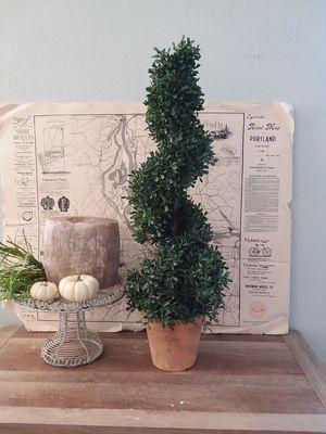 Faux spiral topiary boxwood plant for Sale in La Center, WA