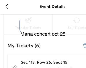 Mana concert tickets for oct 25 for Sale in Miami, FL