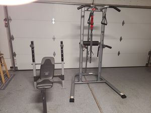 Weight bench and pull-up station for Sale in Denver, CO