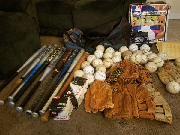 Gloves, Softballs, and Bats make me a offer