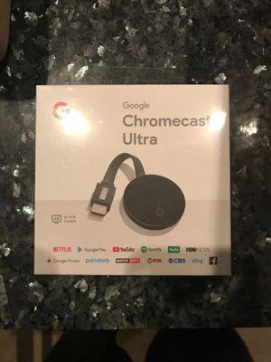 Google Chromecast Ultra 4K for Sale in Dallas, TX