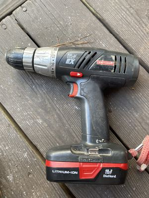 Craftsman 19.2 volt drill with shop light and charger for Sale in Raleigh, NC
