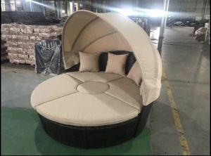 Outdoor Patio Wicker Style Furniture Daybed w/ Adjustable Table Pillows Included for Sale in Naperville, IL