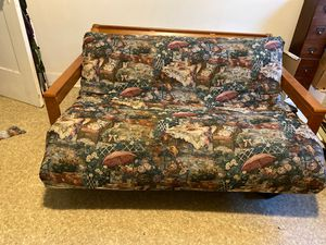 Futon. Solid wood with original cover & cushion for Sale in San Pedro, CA